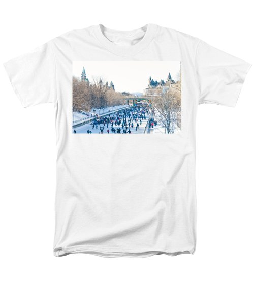 Skating Men's T-Shirt  (Regular Fit) by Cheryl Baxter