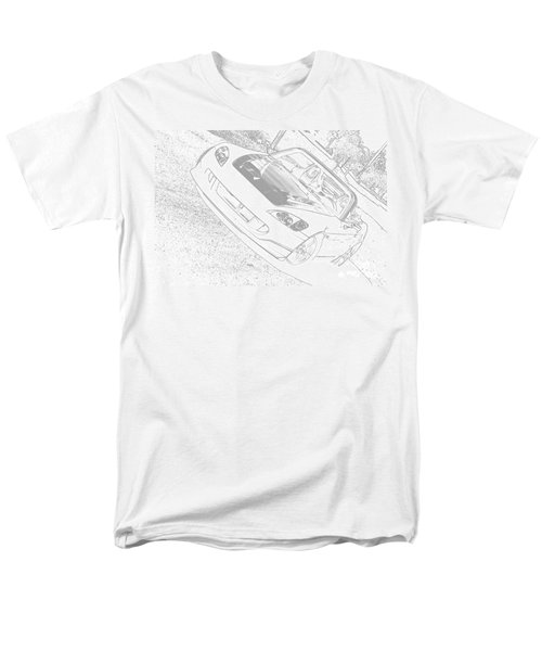 Sketched S2000 Men's T-Shirt  (Regular Fit) by Eric Liller