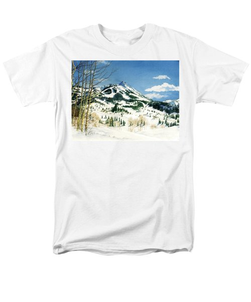 Skiers Paradise Men's T-Shirt  (Regular Fit) by Barbara Jewell