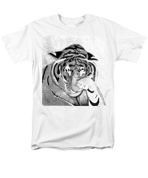 Sleepy Tiger Men's T-Shirt  (Regular Fit)