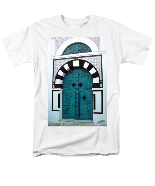 Men's T-Shirt  (Regular Fit) featuring the photograph Smiling Moon Door by Donna Corless