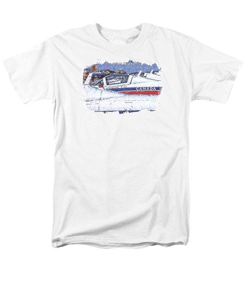 Men's T-Shirt  (Regular Fit) featuring the digital art Snowbirds by Richard Farrington