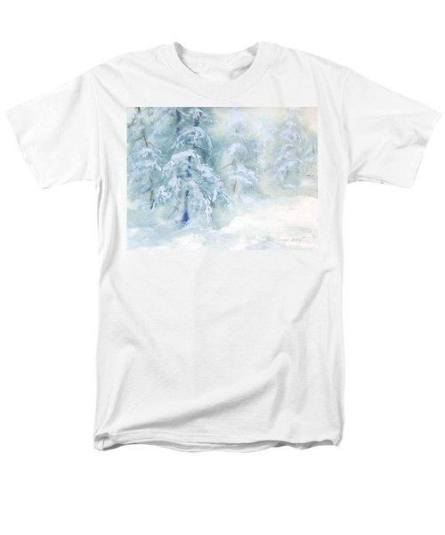 Men's T-Shirt  (Regular Fit) featuring the painting Snowstorm by Joy Nichols