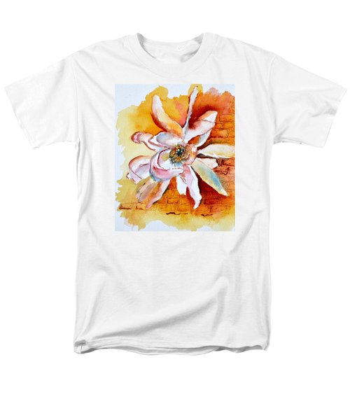 Men's T-Shirt  (Regular Fit) featuring the painting So The Wind Won't Blow It All Away by Beverley Harper Tinsley