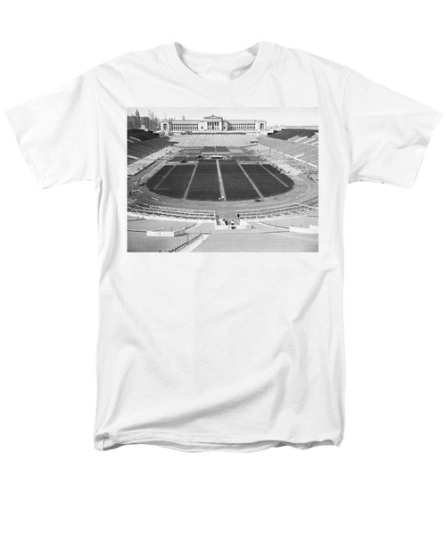 Soldier's Field Boxing Match Men's T-Shirt  (Regular Fit) by Underwood Archives