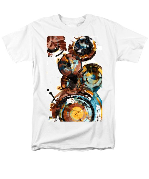 Men's T-Shirt  (Regular Fit) featuring the painting Spherical Happiness Series - 993.042212 by Kris Haas