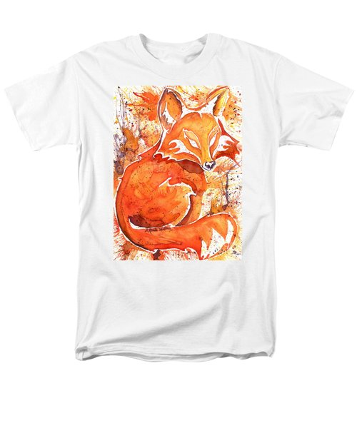 Men's T-Shirt  (Regular Fit) featuring the painting Spirit Of The Fox by D Renee Wilson