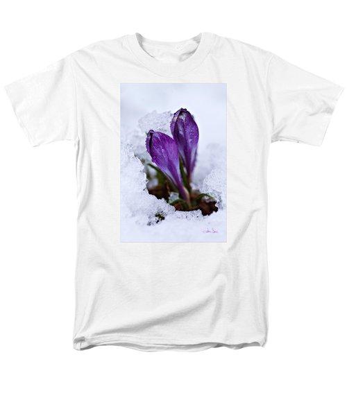 Men's T-Shirt  (Regular Fit) featuring the photograph Spring Snow by Joan Davis