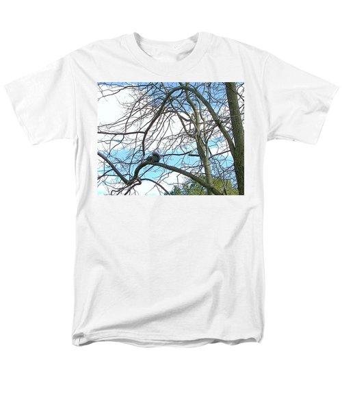 Men's T-Shirt  (Regular Fit) featuring the photograph Squirrel Maze by Pamela Hyde Wilson
