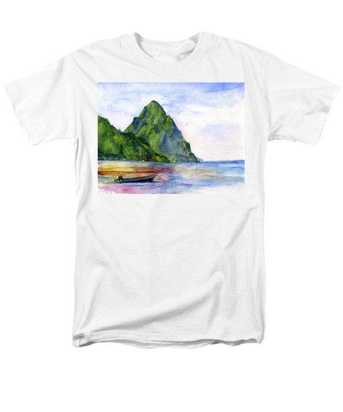 St. Lucia Men's T-Shirt  (Regular Fit) by John D Benson
