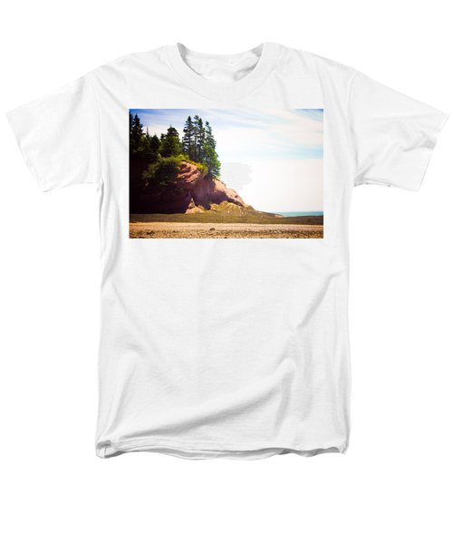 Men's T-Shirt  (Regular Fit) featuring the photograph St. Martin's Sea Caves by Sara Frank