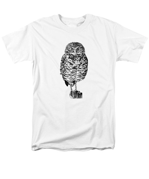 041 - Owl With Attitude Men's T-Shirt  (Regular Fit) by Abbey Noelle