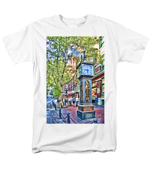 Steam Clock In Vancouver Gastown Men's T-Shirt  (Regular Fit) by David Smith