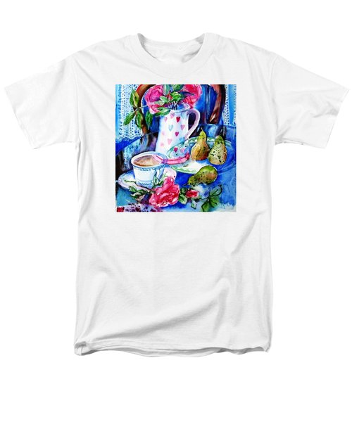 Still Life With Roses  Men's T-Shirt  (Regular Fit) by Trudi Doyle