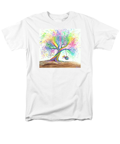 Still More Rainbow Tree Dreams Men's T-Shirt  (Regular Fit) by Nick Gustafson
