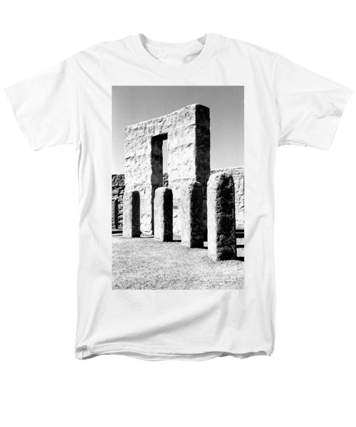 Men's T-Shirt  (Regular Fit) featuring the photograph Stonehenge Replica by Chalet Roome-Rigdon