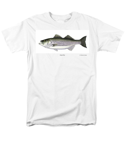 Striped Bass Men's T-Shirt  (Regular Fit) by Charles Harden