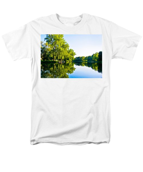 Men's T-Shirt  (Regular Fit) featuring the photograph Summer Reflections by Sara Frank