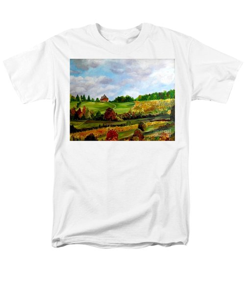 Men's T-Shirt  (Regular Fit) featuring the painting Summer's End by Julie Brugh Riffey