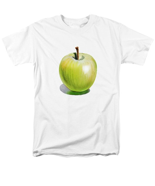 Men's T-Shirt  (Regular Fit) featuring the painting Sun Kissed Green Apple by Irina Sztukowski