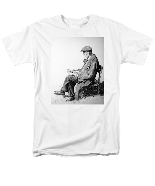Men's T-Shirt  (Regular Fit) featuring the painting Sunday Edition by Glenn Beasley