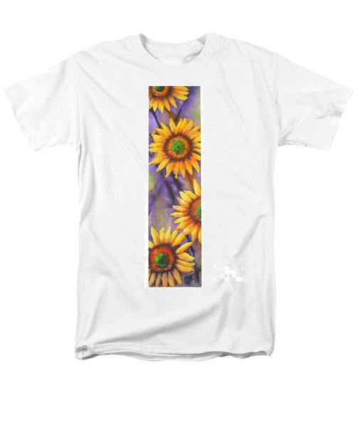 Men's T-Shirt  (Regular Fit) featuring the painting Sunflower Abstract  by Chrisann Ellis