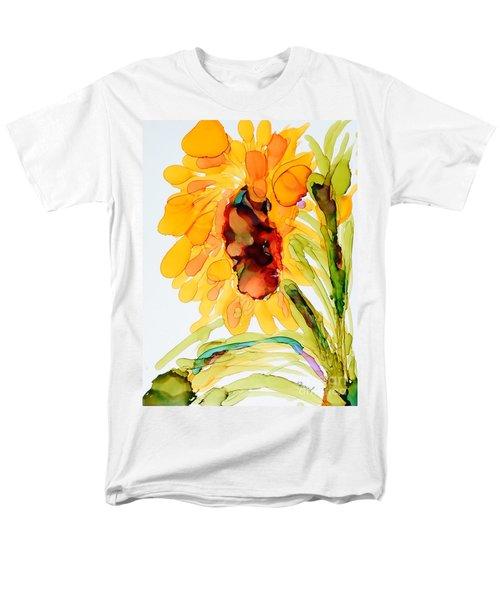Sunflower Left Face Men's T-Shirt  (Regular Fit) by Vicki  Housel
