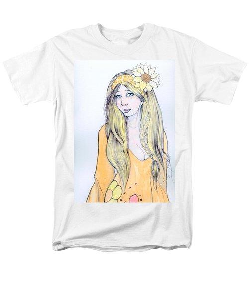 Sunflower Sara Men's T-Shirt  (Regular Fit) by Jimmy Adams