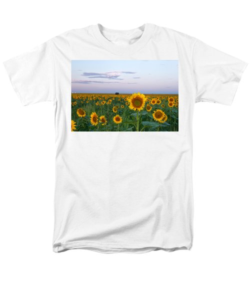 Sunflowers At Sunrise Men's T-Shirt  (Regular Fit) by Ronda Kimbrow
