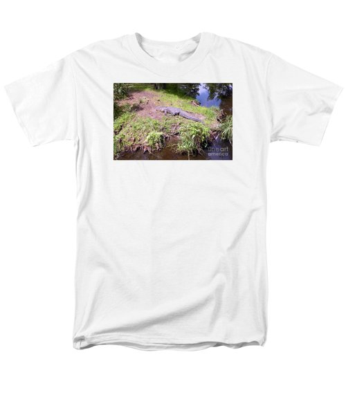 Men's T-Shirt  (Regular Fit) featuring the photograph Sunny Gator  by Joseph Baril