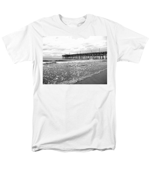 Men's T-Shirt  (Regular Fit) featuring the photograph Sunrise At Surfside Bw by Barbara McDevitt
