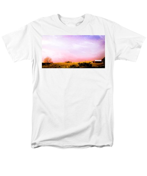 Men's T-Shirt  (Regular Fit) featuring the photograph Sunset At The Farm by Sara Frank