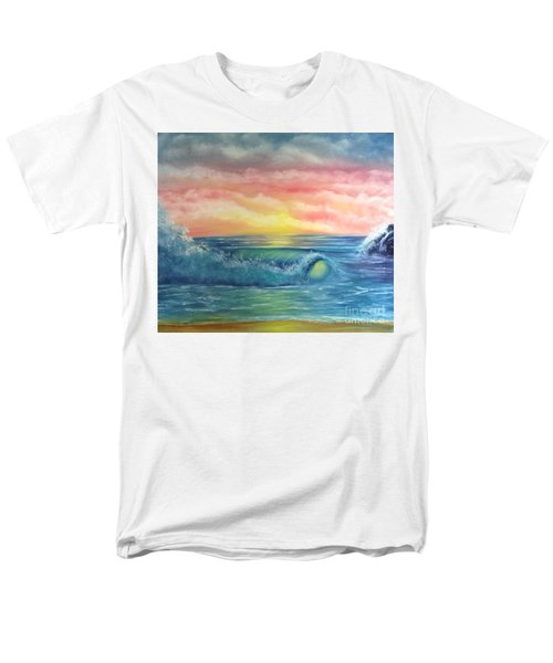 Sunset At The Seashore  Men's T-Shirt  (Regular Fit) by Becky Lupe