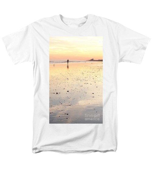 Surfing Sunset Men's T-Shirt  (Regular Fit) by Eric  Schiabor