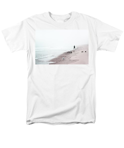 Surfing Where The Ocean Meets The Sky Men's T-Shirt  (Regular Fit) by Brooke T Ryan