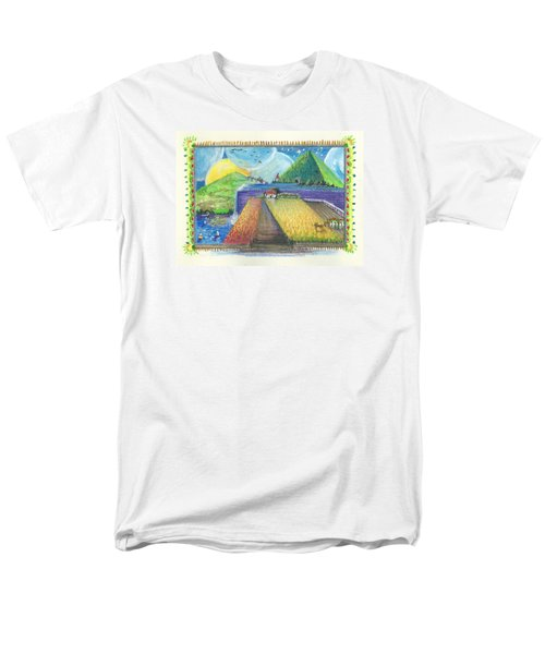 Men's T-Shirt  (Regular Fit) featuring the painting Surreal Landscape 1 by Christina Verdgeline