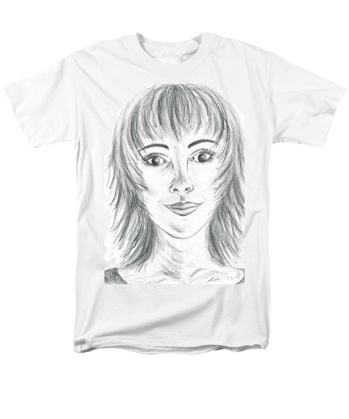 Men's T-Shirt  (Regular Fit) featuring the drawing Portrait Stunning by Teresa White