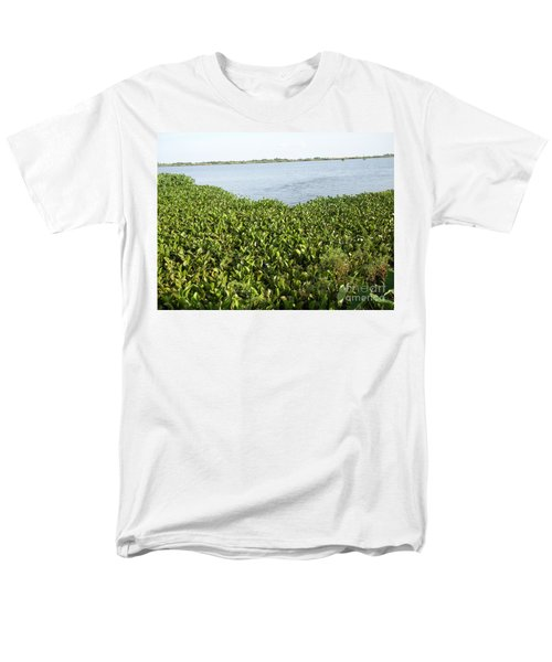 Men's T-Shirt  (Regular Fit) featuring the photograph Swamp Hyacinths Water Lillies by Joseph Baril