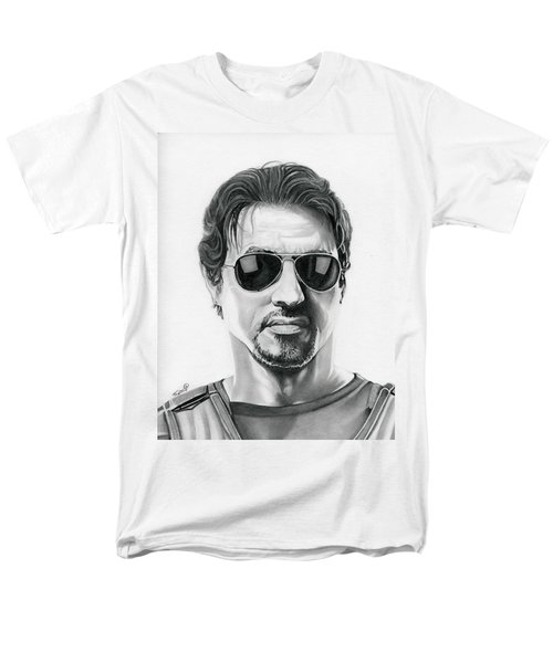 Sylvester Stallone - The Expendables Men's T-Shirt  (Regular Fit) by Fred Larucci