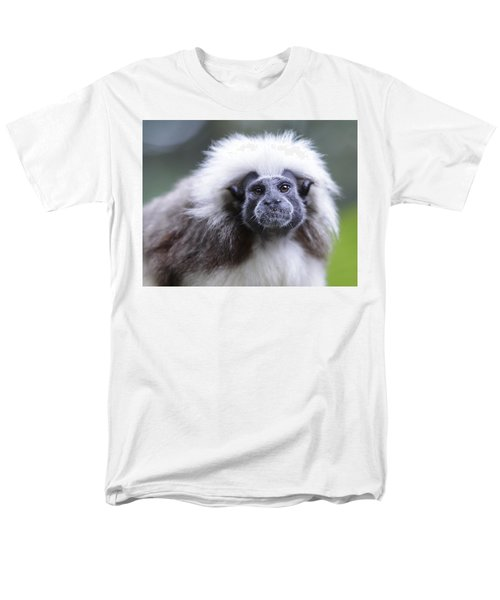 Men's T-Shirt  (Regular Fit) featuring the photograph Tamarins Face by Shoal Hollingsworth