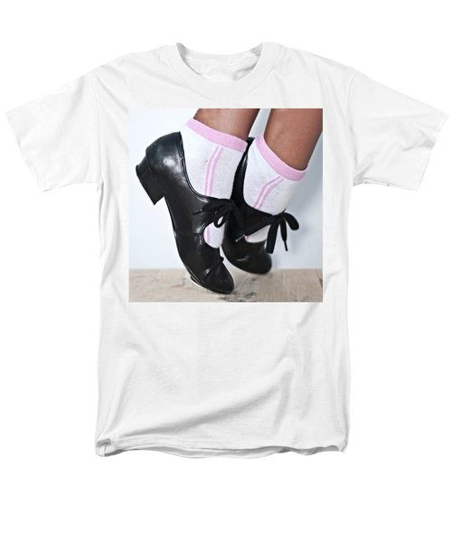 Tap Dance Shoes From Dance Academy - Tap Point Tap Men's T-Shirt  (Regular Fit) by Pedro Cardona