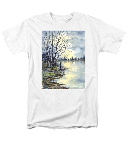 Moonlight Reflections In Loch Tarn In Scotland Men's T-Shirt  (Regular Fit) by Carol Wisniewski