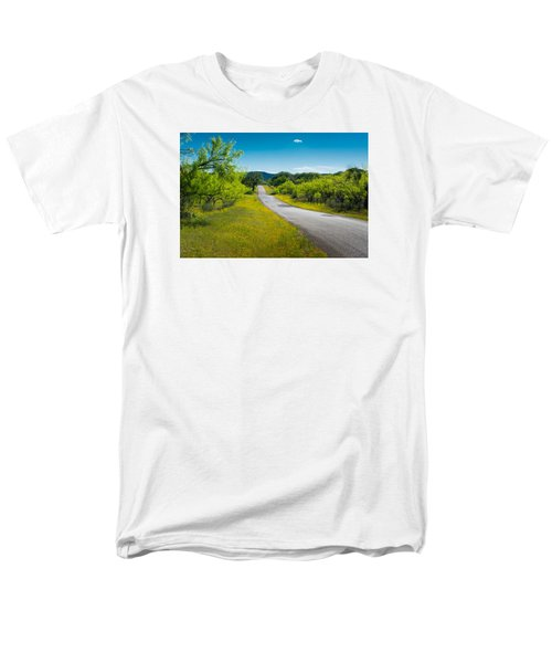 Men's T-Shirt  (Regular Fit) featuring the photograph Texas Hill Country Road by Darryl Dalton
