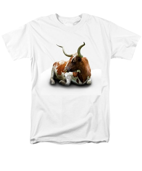 Texas Longhorn Bull Men's T-Shirt  (Regular Fit) by Charles Beeler