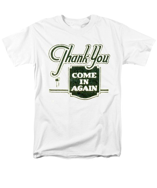 Men's T-Shirt  (Regular Fit) featuring the digital art Thank You-come In Again by Cathy Anderson