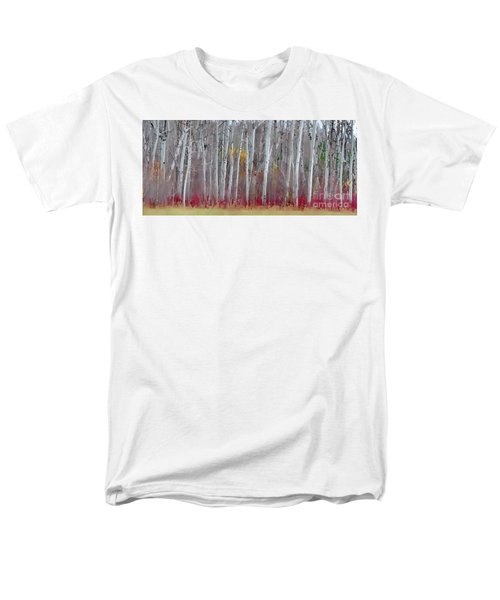 The Birches Panorama  Men's T-Shirt  (Regular Fit) by Andrea Kollo