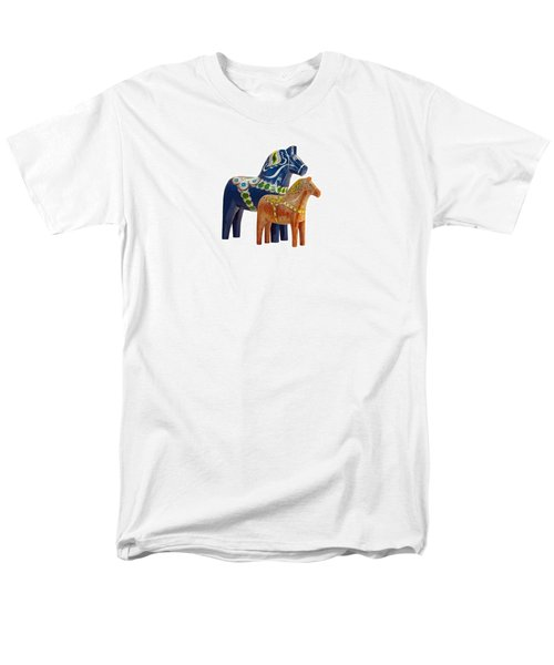 The Blue And Red Dala Horse Men's T-Shirt  (Regular Fit) by Torbjorn Swenelius