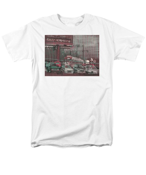 Men's T-Shirt  (Regular Fit) featuring the painting The Boneyard by Donald Maier