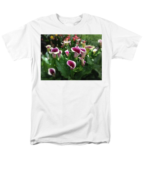 The Calla Lilies Are In Bloom Again Men's T-Shirt  (Regular Fit) by Mark David Gerson