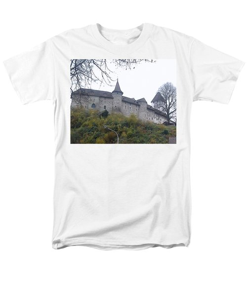 Men's T-Shirt  (Regular Fit) featuring the photograph The Castle In Autumn by Felicia Tica